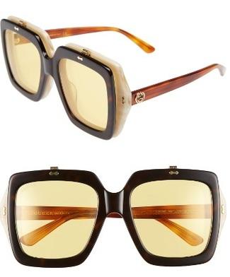 Women's Square Shape Flip Up Sunglasses