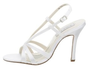 Women's White Strappy Shoes