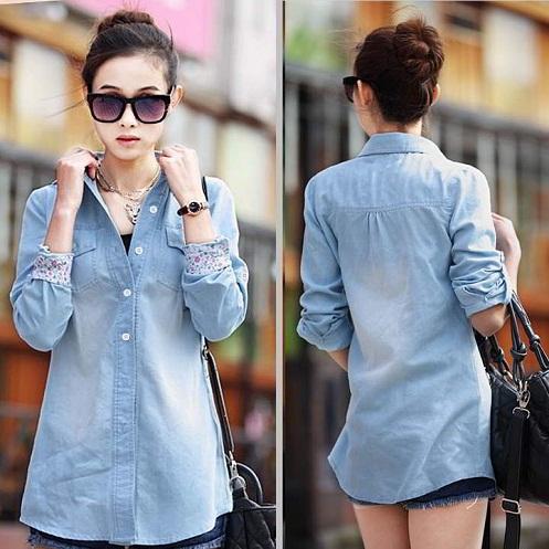 Women Denim Long Sleeves Shirts