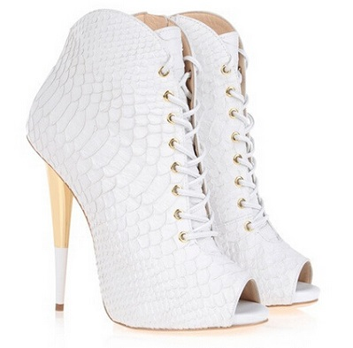 Women Stylish White Booties