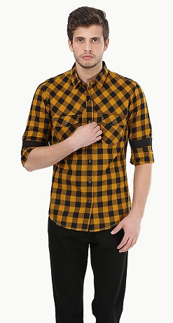 Yellow checks shirt
