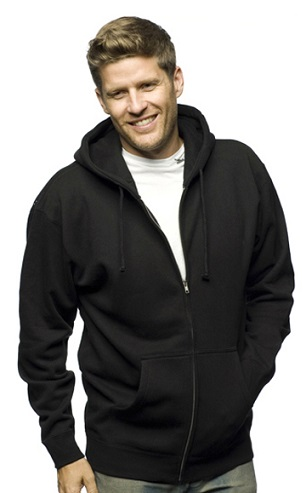 Zip Up Black Men´s Sweatshirt
