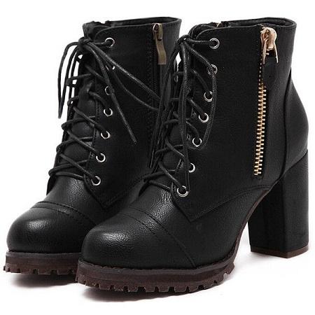 Zipper Boots for Women