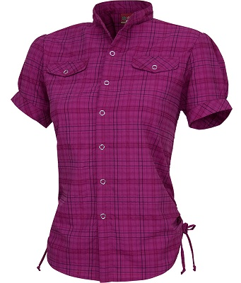 dark purple women's chequered shirt