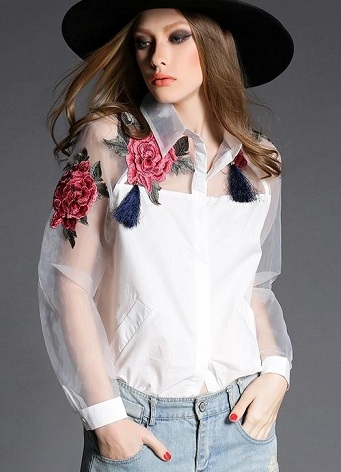 flower print women's shirt