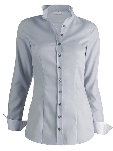 grey coloured glossy women shirt
