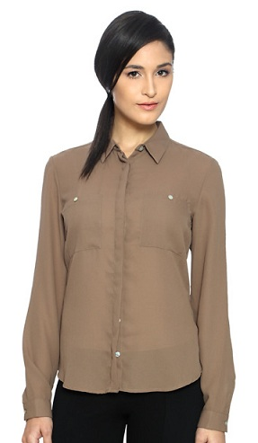 rusty brown women shirt