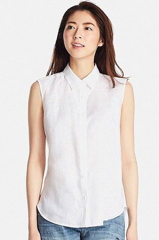 white coloured half shirt for women