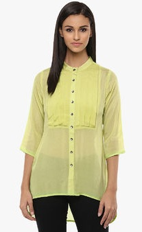 yellow long women shirt