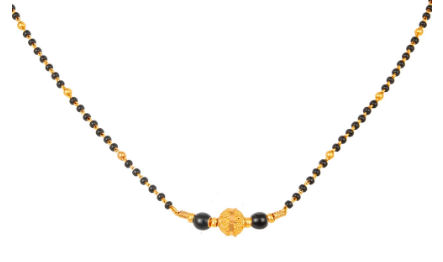 1 Gram Gold Mangalsutra with Big Beads