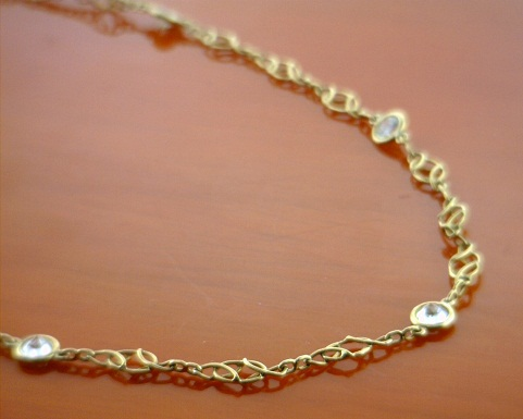 18k Gold Chain with diamonds