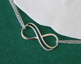 2 bridesmaid infinity anklet