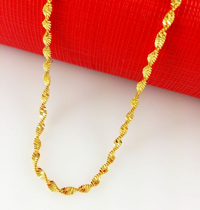22k Gold Chain with Curls
