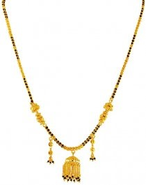 22k Gold Mangalsutra with Jhumka Pendant