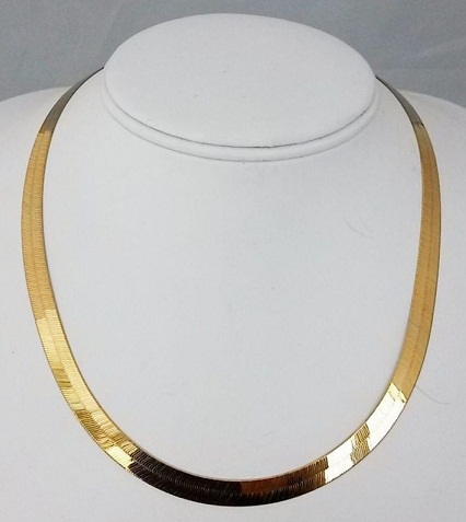 24k Gold Herringbone Chain