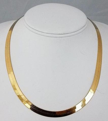24k Gold Herringbone Chain