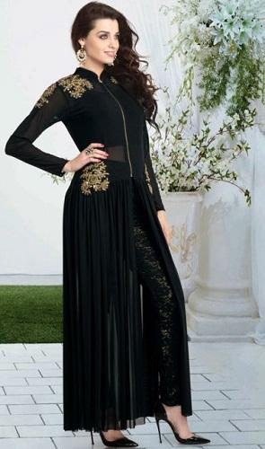 Amazing ankle length churidarsalwar suit