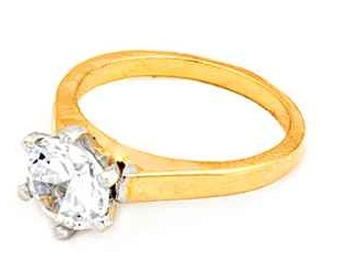 American Diamond Gold Plated Ring7