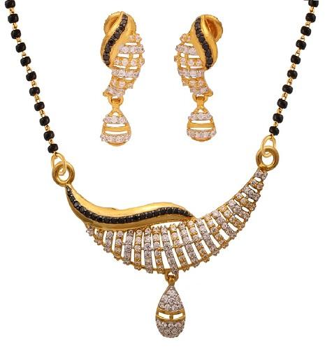 Light Shop Mangalsutra Diamond Pendant Designs