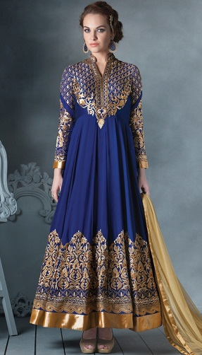 Anarkali Type Salwar Kameez Skirt2