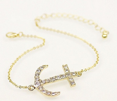 Anchor Style Chain Anklet for Men