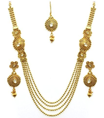 Antique Artificial Temple Necklace Set