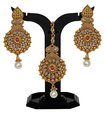 Antique Maang Tikka and Earring Sets