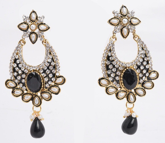 Artificial Kundan Temple Jewellery Earrings