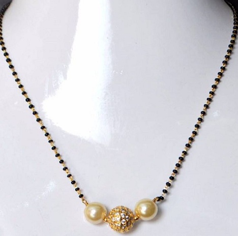 Artificial pearl mangalsutra