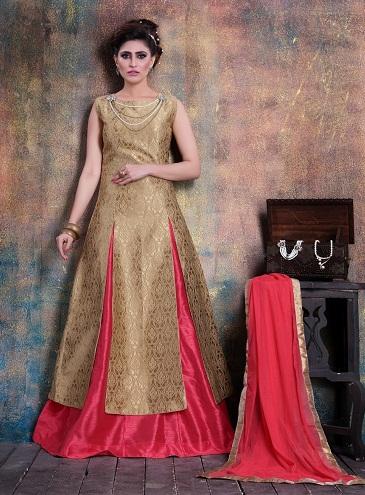 Banaras silkstyle SalwarKameez Skirt