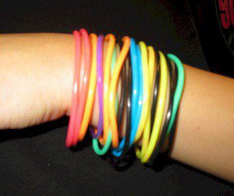 Bangle type Rubber bracelets