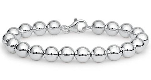 Bead linked platinum Bracelet for Men