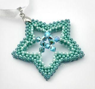 Bead worked Star Pendant