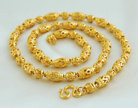 Beaded 24k Gold Chain