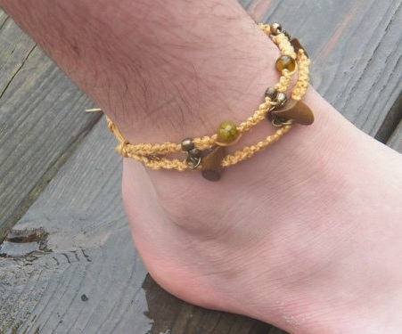 Beaded Knot Men's Anklet