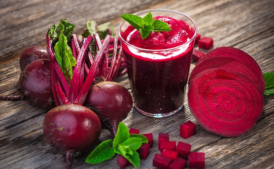 Beetroot and Grapes Juice for Colon Cleansing