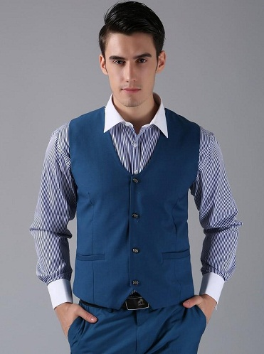 Best men Custom blue vest