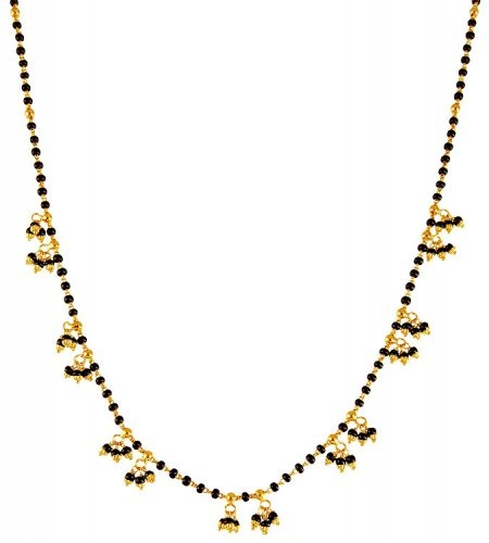 Black bead Mangalsutra chain with black bead Hangings