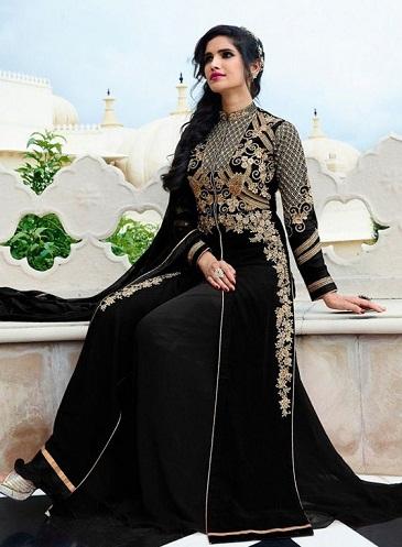 Black salwaar suit with palazzo