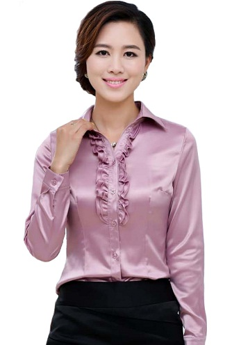 Blouse Women Shirts in Pink