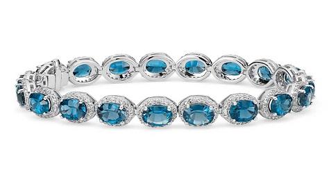 Blue topaz stone bangle