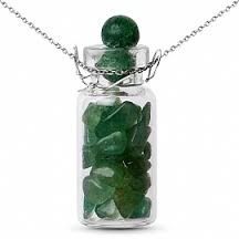 Bottle Charm gemstone pendant