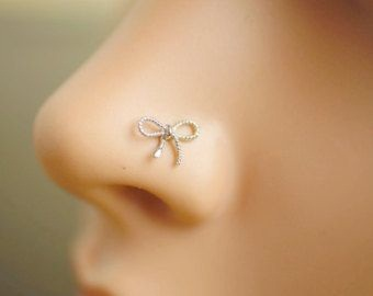 Bow Style Fake Nose Stud