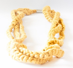 Braided Textile Necklace