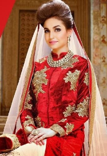 Bridal wear velvet salwar suit