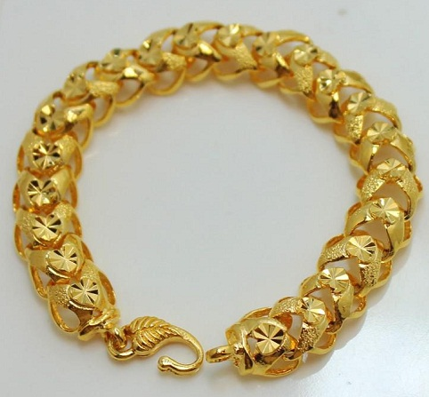 Broad Gold Platted Bracelet
