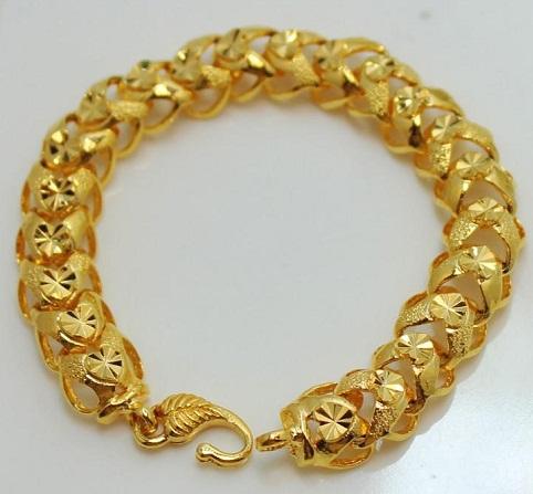 Broad Gold Platted Bracelet