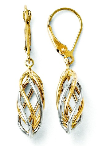 Cage design dangle earrings