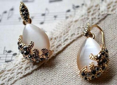 Carved Gemstone earrings