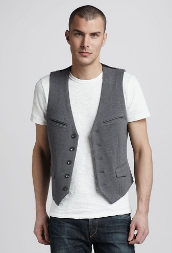 Casual Grey Vest
